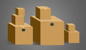 Moving boxes help protect valuables when moving home