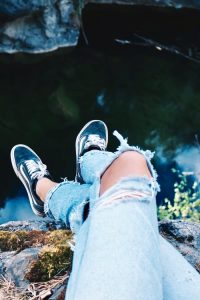 Wear old shoes and clothes just to be safe